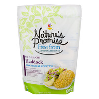 Nature's Promise Free from Haddock Fillets Wild-Caught - apx 3-4 ct Frozen
