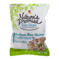 Nature's Promise Free from Raw Shrimp Tail-On Peeled & Deveined Med Frozen