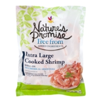 Nature's Promise Free from Cooked Shrimp Shell-On XL 31-40ct per lb Frozen