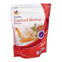 Stop & Shop Cooked Shrimp Tail-On Jumbo - 26-30 ct per lb Frozen