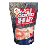 Stop & Shop Cooked Tail On Shrimp Extra Large 26-30 ct per lb Frozen