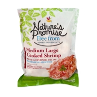 Nature's Promise Free from Cooked Shrimp Tail-On Med-Large 41-50 ct per lb