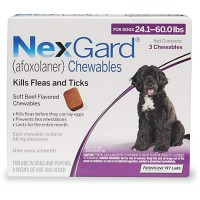 NexGard Chewables - Purple for Dogs 24.1 to 60 lbs., 3 Pack