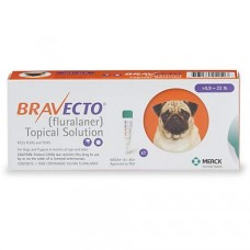 ravecto Topical Solution for Dogs - Orange, For Dogs 9.9 to 22 lbs.