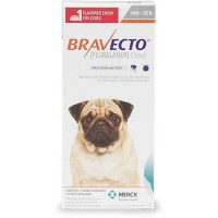 Bravecto Chewable Tablet for Dogs - Orange, For Dogs 9.9 to 22 lbs.