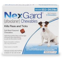 NexGard Chewables - Blue for Dogs 10.1 to 24 lbs., 3 Pack