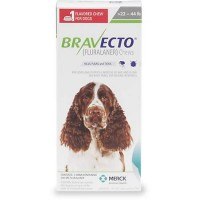 Bravecto Chewable Tablet for Dogs - Green, For Dogs 22 to 44 lbs.