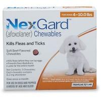 NexGard Chewables - Orange for Dogs 4 to 10 lbs., 3 Pack