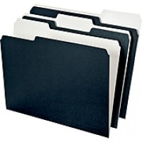 Ampad Envirotec 100% Recycled Colored File Folders, Letter Size, Black, 3 Tab, 50/Box