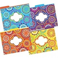 Barker Creek Moroccan Fashion File Folders, letter size, 1/3 cut, multi-design set, 12/Pack