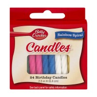 Betty Crocker Birthday Candles Rainbow Spiral