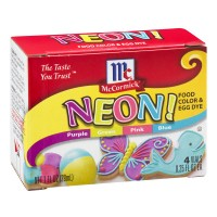 McCormick Food Coloring Assorted Neon - 4 ct