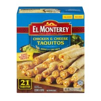 El Monterey Taquitos Chicken & Cheese - 21 ct