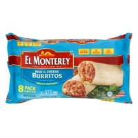 El Monterey Burritos Beef & Cheese Family Pack - 8 ct