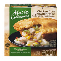 Marie Callender's Tender White Meat Chicken Corn Chowder Pot Pie