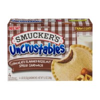 Smucker's Uncrustables Sandwiches Chocolate Flavored Hazelnut Spread- 4 ct