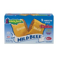 Tower Isle's Jamaican Style Patties Mild Beef - 9 ct Frozen