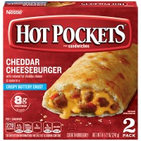 Hot Pockets Cheddar Cheeseburger with Crispy Buttery Crust - 2 ct