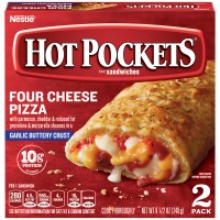Hot Pockets Four Cheese Pizza with Garlic Buttery Seasoned Crust - 2 ct
