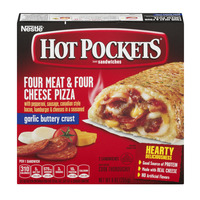 Hot Pockets Four Meat & Four Cheese Pizza with Garlic Buttery Crust - 2 ct