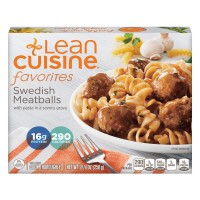 Lean Cuisine Favorites Swedish Meatballs with pasta in savory sauce