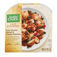 Healthy Choice Cafe Steamers Four Cheese Ravioli & Chicken Marinara
