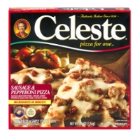 Celeste Pizza For One Sausage & Pepperoni Frozen