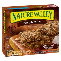 Nature Valley Crunchy Granola Bars Oats 'n Dark Chocolate - 12 ct