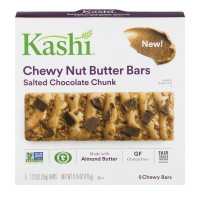 Kashi Chewy Nut Butter Bars Salted Chocolate Chunk - 5 ct