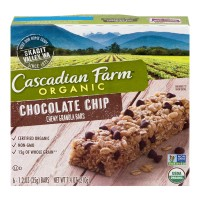 Cascadian Farm Chewy Granola Bars Chocolate Chip Organic - 6 ct