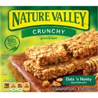 Nature Valley Crunchy Granola Bars Oats 'n Honey 100% Natural - 6 ct