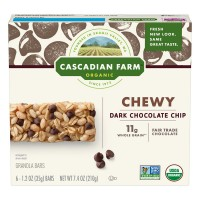 Cascadian Farm Chewy Granola Bars Dark Chocolate Chip Organic - 6 ct