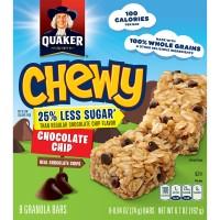 Quaker Chewy Chocolate Chip Granola Bars 25% Less Sugar - 8 ct