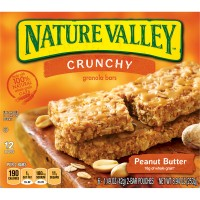 Nature Valley Crunchy Granola Bars Peanut Butter 100% Natural - 12 ct