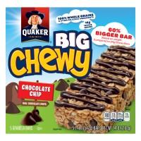 Quaker Big Chewy Chocolate Chip Granola Bars - 5 ct
