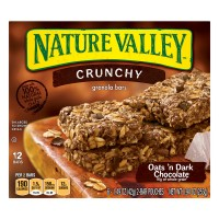 Nature Valley Crunchy Granola Bars Oats 'n Dark Chocolate - 12 ct