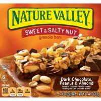 Nature Valley Sweet & Salty Nut Granola Bars Dark Choc Peanut Almond 6 ct