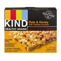 KIND Healthy Grains Granola Bar Oats & Honey w/Toasted Coconut - 5 ct
