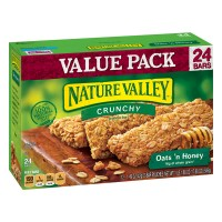 Nature Valley Crunchy Granola Bars Oats 'N Honey 100% Natural - 24 ct