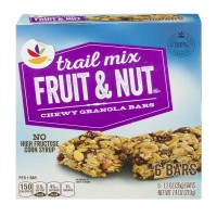 Stop & Shop Chewy Granola Bars Trail Mix Fruit & Nut - 6 ct