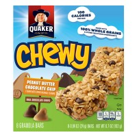 Quaker Chewy Granola Bars Peanut Butter Chocolate Chip - 8 ct