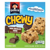 Quaker Chewy Granola Bars Dark Chocolate Chunk Low Fat - 8 ct