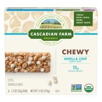 Cascadian Farm Chewy Granola Bars Vanilla Chip Non-GMO Organic - 6 ct