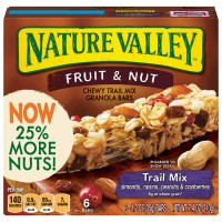 Nature Valley Chewy Trail Mix Bars Fruit & Nut 100% Natural - 6 ct