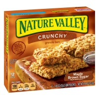 Nature Valley Crunchy Granola Bars Maple Brown Sugar 100% Natural - 12 ct