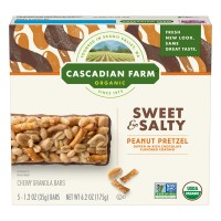 Cascadian Farm Granola Bars Sweet & Salty Peanut Pretzel Non-GMO - 5 ct