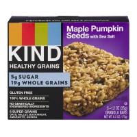 KIND Healthy Grains Granola Bar Maple Pumpkin Seeds w/Sea Salt - 5 ct