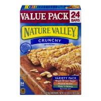 Nature Valley Crunchy Granola Bars Variety Pack 100% Natural - 24 ct