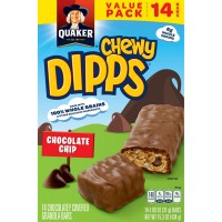 Quaker Chewy Dipps Granola Bars Chocolate Chip 100% Whole Grains - 14 ct