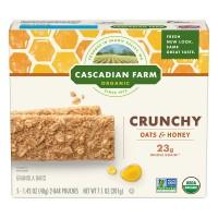 Cascadian Farm Crunchy Granola Bars Oats & Honey Non-GMO Organic - 5 ct